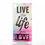 Love Life Pattern Painted Transparent Frosted PC Material Phone Case for Sony Z3