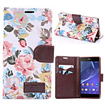 High-grade Cloth Grain PU Leather Cardholder Wallet Flip Phone Holster For Sony Xperia Z3(Assorted Color)