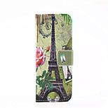 Transmission Tower  Pattern PU Leather Phone Case For iPhone 5/5S