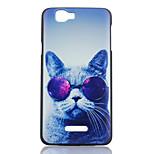 gato óculos padrão pc caixa do telefone do arco-íris material para Wiko