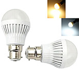 2 pcs Ding Yao B22 7W 1X SMD 2835 50-100LM 2800-3500/6000-6500K Warm White/Cool White Globe Bulbs AC 220-240V