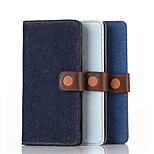 Stents Holster Denim Casual Pu Denim Mobilephone Protection Shell Card Holder for Sony Z4