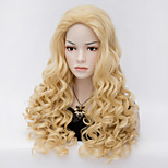Natural Wave Blonde Color Long Hair Wigs Synthetic Wave Hair Wigs Fashion Style