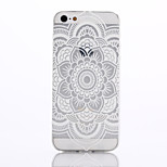 Datura Flowers Pattern TPU Material Phone Case for iPhone 5/5S