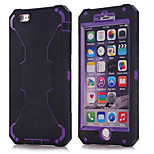 2015 new for iPhone6 three in one robot shell (silica gel + Purple PC)