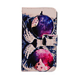 Magic Spider®Glass Cat Pattern PU Full Body Case Stand with Screen Protector for Sony E4