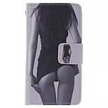 Beauty  Pattern PU Leather Phone Case For  Sony Xperia E1