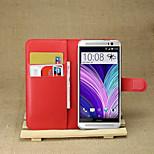 litchi intorno parentesi aperta di cuoio del telefono della carta del raccoglitore adatti per un htc (M8) (colori assortiti)