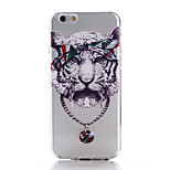Tiger Pattern TPU Material Phone Case for iPhone 6/6S