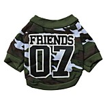 Cool Number 7 Pattern Camouflage   Cotton T-Shirt for Pets Dogs (Assorted Sizes)