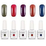Gelpolish Nail Art Soak Off UV Nail Gel Polish Color Gel Manicure Kit 5 Colors Set S102