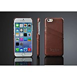 Original Leather Litchi Wave Back Case with Card Holder for Apple Iphone 6 Plus(Assorted Color)