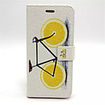 Bicycle Pattern PU Leather Case Cover with Stand and Card Holder for iPhone 6