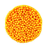 Beadia 58g(Approx 2000Pcs)  4mm Round ABS Pearl Beads Gold Yellow Color Plastic Beads