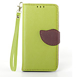 Deluxe Litchi Leaves Wallet Leather Flip Tpu Case For Sony Z1 Mini/M51w Wallet Handbag + Lanyard