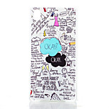 Cloud Pattern Painted Transparent Frosted PC Material Phone Case for Sony Z4