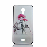 Elephant Pattern PC Material Phone Case for Wiko BLOOM