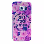 Flowers Pattern PC Hard Case for Samsung Galaxy S6