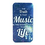 modello felice musica pc acidato trasparente della copertura posteriore per iPhone 4 / 4S