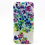 Colorful Flower Leaves Pattern PC Hard Back Cover Case for iPhone 4/4S