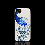 / caso del iphone 4 s la cubierta del patrón del pavo real para el iphone 4 carcasa