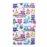 Owl Party Pattern PU Leather Full Body Case with Stand and Card Slot for Huawei Honor 4C