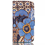 Blue Flower Patterns Pattern Retro Quality PU Material Case for iPhone 6