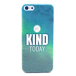 BE Kind Today Pattern Transparent Frosted PC Back Cover  For iPhone 5C
