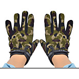 Men's Outdoor Hiking Slip-resistant Tactical Full Finger Gloves - Camouflage + Black