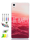 Asuka Pattern Slim TPU Material Soft Phone Case And Dust Plug Stylus Pen Stand Combination for Sony Z1