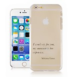 English Phrases Pattern Transparent Phone Case Back Cover Case for iPhone6 Case