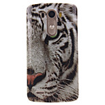 White Tiger Pattern TPU Soft Case for LG G3