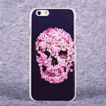 Flower Skull Pattern Hard Case with Screen Protector Flim for iPhone 6