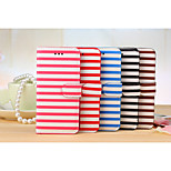 Leather Stripes with Standoff for IPhone 6 plus(Assorted Colors)