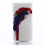 Parrot Pattern TPU Material Phone Case for Sony Z4