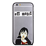 Spoof McDonald Fries Girl Pattern Frame Back Cover for iPhone 6