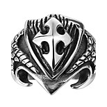 Three-dimensional Cross Exaggerated Personality Rock Titanium Steel Stainless Steel Men's Ring