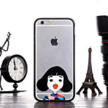 Cute Girl Acting Cute Kiss Pattern Frame Back Cover for iPhone 6