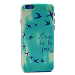 Happy Swallow Pattern Plastic Hard Cover for iPhone 6
