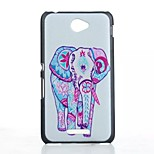 Elephant Pattern Painted PC Material Phone Case for Sony Xperia E4