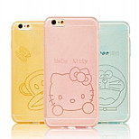Ultra Thin PC Bumper Frame Case for iPhone 6 Transparent Cartoon Protective Front Back Cover Case