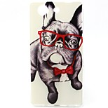 Spectacle Dog Pattern TPU Soft Case for Sony Xperia Z3 Mini