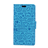 5.5 Inch  Little Witch Pattern PU Wallet Leather Case for Sony Xperia C4 (Assorted Colors)