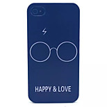 Happiness And Love  Pattern Transparent Frosted PC Back Cover For  iPhone 4/4S