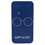 Glück und Liebe Muster transparent gefrostet PC Schutzhülle für iPhone 4 / 4s
