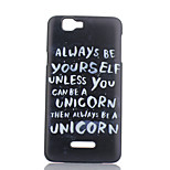 White Letter Pattern Painted PC Phone Case for Wiko RAINBOW