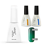 Azure 3 Pcs/Lot Gel Polish Chameleon Temperature Color Changing Soak Off UV Gel Nails(#40+BASE +TOP)
