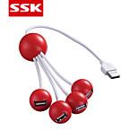 SSK® USB 2.0 4-Port High-speed USB  HUB  USB 2.0 HUB