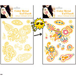 Asia Totems Discoloration Tattoo Sunlight will Change Color Tattoo Stickers Temporary Tattoos(1 Pc)
