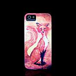 / caso del iphone 4 s la cubierta del patrón de zorro para el iphone 4 carcasa